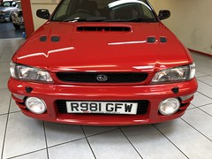 IMG_0326 (deeelux) Tags: red subaru impreza wagon 2000 turbo uk spec 1997 r981gfw