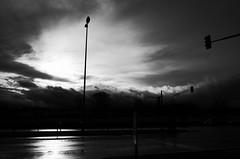 Shining (stefankamert) Tags: shining street clouds light sky cars noir noiretblanc blackandwhite blackwhite ricoh grain gr grii ricohgr black bw