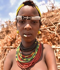 Dassanech Woman (Rod Waddington) Tags: africa african afrique afrika äthiopien ethiopia ethiopian ethnic etiopia ethnicity ethiopie etiopian omovalley outdoor omo omoriver dassanech dassanach tribe traditional tribal woman beads village culture cultural portrait people minority south