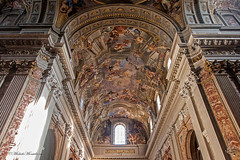 Chiesa di Sant'Ignazio da Loyola in Campo Marzio (Michele Monteleone) Tags: arte roma cielo chiesa basilica italia 2014 canon eos40d muro pittura
