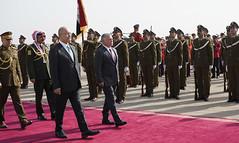 مراسم استقبال رسمية لجلالة الملك عبدالله الثاني لدى وصوله مطار بغداد الدولي (Royal Hashemite Court) Tags: kingabdullahii kingabdullah iraq jordan الملك عبدالله الثاني الأردن العراق برهم صالح