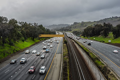 el curtola overpass (pbo31) Tags: bayarea california nikon d810 color january 2019 boury pbo31 highway 24 walnutcreek lafayette contracostacounty roadway traffic fog rain wet over