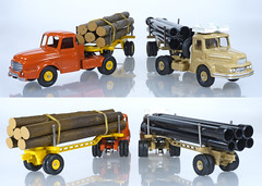 Atlas Dinky Pipe & Log Trucks (adrianz toyz) Tags: dinky toys toy model vehicle france french atlas reissue willeme log truck lorry semi diecast articulated adrianztoyz 36a 893 unic pipetransporter supertoys