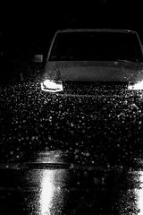 Through Rain And Snow (Isengardt) Tags: rain snow regen schnee lights lichter wet nass street strase vw bus car auto vehicle vehikel dark dunkel darkness dunkelheit front through durch fahren drive esslingen badenwürttemberg deutschland germany europe europa night nacht canon eos 550d 50mm