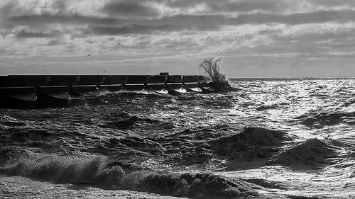 Rough Sea 2 B&W