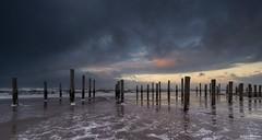 Storm in Petten (Wim Boon Fotografie) Tags: canoneos5dmarkiii canonef1635mmf4lisusm leefilternd09softgrad sunset storm wind winter petten water noordzee beach strand clouds