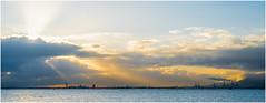Industrial Sunrise (nickyt739) Tags: tunis tunisia industrial sunrise lake water sky panoramic clouds sun burst atmosphere amateur explorer traveller nikon d750 dslr fx flickrsbest
