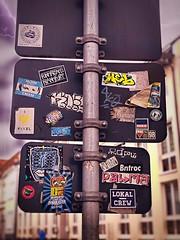 Sticker Attack Bielefeld (Viktoriastraße) (The_Beauty_And_The_Streets) Tags: sticker fotografie photography kunst art bielefeld graffitibielefeld graffiti streetart