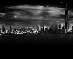 Empire Clouded (OranK7) Tags: newyork bw monochrome cloud