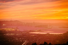 Sunset Over the San Francisco Bay (Thomas Hawk) Tags: america baybridge eastbay grizzlypeak oakland usa unitedstates unitedstatesofamerica bridge sunset fav10 fav25 fav50