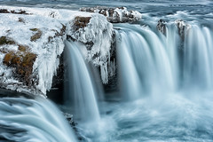 Icy Flow (Pete Rowbottom, Wigan, UK) Tags: iceland waterfall godafoss intimate detail water blue snow ice winter 2019 peterowbottom icicles falls northern scandinavian dramatic power landscape river northerniceland island nikond810 beauty nature naturallandscape outside spate new flowingwater movement nisifilters glacial volcanic