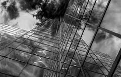 Williams Tower (http://sotochristian2.500px.com/) Tags: abstract architecture blackandwhite building cityscape clouds drama fujifilmxe3 fujinon816mmf28 houston minimalist skyscraper texas williamstower