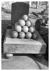 Cannon Ball's Ruled in the 1800's (The Stig 2009) Tags: brompton cemetery london cannon balls black white general royal marines thestig2009 thestig stig 2009 2019 tony o