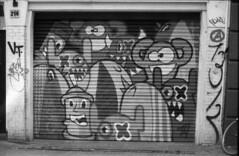 Haarlem streetart (lumpy79) Tags: pentax me smc pentaxm 1750mm forte 200 expired 2004 shot iso 6419° 2015 developped haarlem streetart holland netherlands hollandia blackandwhite feketefehér smcpm50mmf17 epsonv500 film