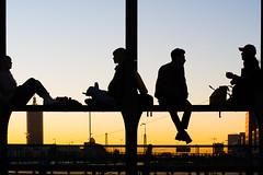 Hackerbrücke, Munich (Fliwatuet) Tags: germany munich münchen olympusomdem10markii dusk people silhouette sunset