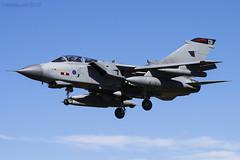 Royal Air Force, Tornado GR4, ZG756 / 131. (M. Leith Photography) Tags: raf lossiemouth lossie aviation jet panavia tornado gr4 scotland scottish sunshine royal air force mark leith photography nikkor 70200vrii nikon airplane aircraft sky cockpit grass field