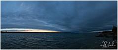 Huron Coldfront (D J England) Tags: horizon lakehuron cottage coldfront canoneos5dmkiii lake weather brucepeninsula djenglandphotography sigma24105mmf4dgoshsma douglasjengland sky djengland ontario southernontario dje clouds tobermory haybay