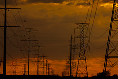 Powerlins at Dusk (Ed Cheremet) Tags: arizona goodyear highvoltage landscape phoenix subject sunset desertargonaughtgmailcom edcheremet electricity httpedcheremetartistwebsitescom httpfineartamericacomprofilesedcheremethtml powerlines thegrid
