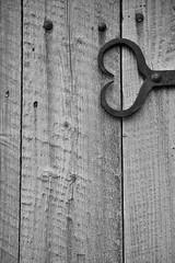 for all Flickr friends (jean-marc losey) Tags: canada québec tadoussac penture coeur porte noiretblanc monochrome randonnée d700