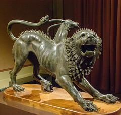 Arezzo San Lorentino City Gate Chimera c.400 BCE Etruscan Bronze & Copper (Bruce Allardice) Tags: italy arezzo chimera museoarcheologiconazionaledifirenze etruscan sanlorentinocitygate