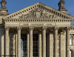 Berlin, Deutscher Bundestag (Reichtagsgebäude) (bleibend) Tags: 2019 em5 leicadgsummilux25mmf14 omd berlin bundeshauptstadt bundestag kulturgut m43 mft olympus olympusem5 olympusomd reichstag