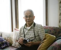 An old man and camera (hisaya katagami) Tags: 120film pentax67 filmphotography fujifilm portrait father photographer camera mediumformat