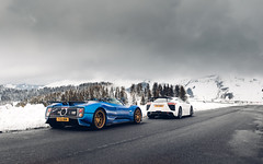 Zonda C12S & LFA Nurburgring. (Alex Penfold) Tags: pagani zonda c12s roadster blue supercars super supercar car cars autos alex penfold 2019 france snow mountains lexus lfa nurburgring white