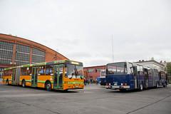 Ikarus 435 (RKI-435) & Ikarus 284 (MZE-284) (Aron Sonfalvi) Tags: ikarus435 ikarusbus ikarus bkv saitreviglio saitreviglioikarus articulatedbus hungarianbus vehicle bus