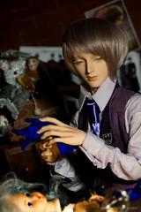 Herr Drosselmeyer's Workshop (Ermilena Puppeteer) Tags: dollсlans dollclanssiber bjd abjd balljointeddoll steampunkdoll doll dioramaforbjd handmadeforbjd handmade