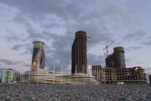 Construction of ORBI Sea Towers Apartment, 07.09.2013.