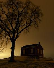 Abbe Creek School (Rh+) Tags: iowa longexposure nikon night photography school evening mood lighting winter cold mountvernon