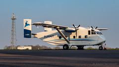 Reaching the Summit (Al Henderson) Tags: aviation bedfordshire cgkoa cranfield egtc planes sc7 shorts skyvan summit summitair