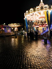 7C6A2259-B5BD-43CF-A6E6-98F541EF86C4 (idefleunam) Tags: uk scotland paisley evening christmas lights ride carousel black sky people street