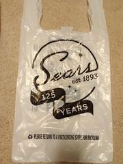 Sears Bag (TheTransitCamera) Tags: sears retail store closing shopping mall department consumer mallofamerica shop bag plastic disposable carrier sack bolsa plastico