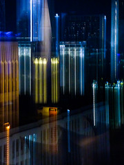 Tall Buildings (Steve Taylor (Photography)) Tags: icm architecture abstract building colourful asia singapore city blur glow lines