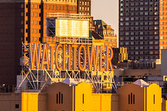 Amber Waves of New York (Thomas Hawk) Tags: america brooklyn nyc newyork newyorkcity usa unitedstates unitedstatesofamerica watchtower architecture neon neonsign fav10 fav25 fav50 fav100