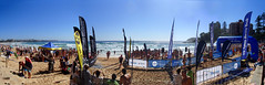 Ocean race at Manly Beach (LSydney) Tags: panorama coleclassic manly beach race oceanswim sea ocean