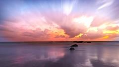 Rising Sun (Bron.Wolff) Tags: longexposure cloudscape clouds water sea seascape ocean queensland australia colours morning scenery beautiful landscape nature sunrise beach yeppoon