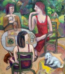Jardin du Luxembourg crop 2 (danielborisheifetz) Tags: art oil oilpainting painting female