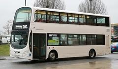 Lothian Country 594 LP11YBB with a Blackridge bound 280 service at Livingston Bus Terminal. (Gobbiner) Tags: eclipsegemini2 lothiancountry 594 blackridge volvo livingston b5lh bullocksofcheadle 3 wrightbus 280