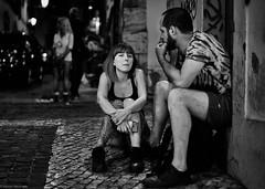 Lissabon Gente de Lisboa 207 bw (rainerneumann831) Tags: bw blackwhite street streetscene ©rainerneumann urban monochrome candid city streetphotography blackandwhite mann frau gentedelisboa lisboa lissabon