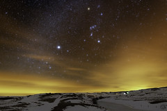 Orion & Sirius, Aubrac FR (benitoorion) Tags: marchastel lozère france orion sirius aubrac longexposure landscape languedocroussillon astronomy astrophotography astrophoto countryside cosmos cloudscape d850 espace space massifcentral nightscape nikkor20mm snow lozere occitanie