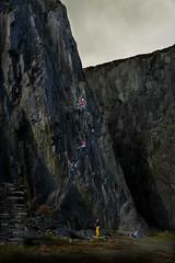 Dinorwic grey, yellow, pink, blue (PentlandPirate of the North) Tags: dinorwic slatequarry climbers dinorwig gwynedd snowdonia northwales