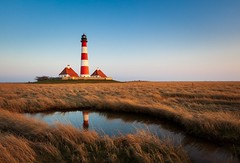 The Lighthouse 2 (dietmargötte) Tags: bluesky reflexion 24mm landscape canon travelphotography westerhever colorful nordfriesland leuchtturm winter sanktpeterording northsee germany