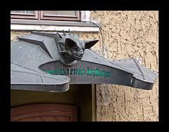 photo - Batman Naktinis Kokteiliu Baras, Klaipeda, Lithuania (Jassy-50) Tags: photo klaipėda klaipeda lithuania batman batmannaktiniskokteiliubaras cocktailbar bar entrance canopy doorcanopy bat batcanopy metal metallic