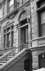 West 82st Brownstone (jc1305us) Tags: beauxarts ornate stoop architecture urbanart d5100 nikon blackandwhite upperwestside centralparkwest manhattan nycarchitecture nycbrownstone