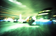 City Hall (Myahcat) Tags: 35mm film xpro crossprocess lcw lcwide lomo lomography london icm intentionalcameramovement longexposure night nightphotography lighttrail