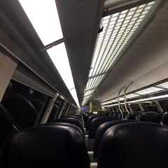 night train II (j.p.yef) Tags: peterfey jpyef yef train inside night empty seats windows square iphone