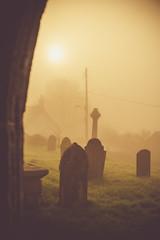 Misty Iddesleigh (Glavind Strachan Photography) Tags: supertakumar legacylens manuallens devon church graveyard moody misty churchofstjames iddesleigh mist gravestones village devonvillage