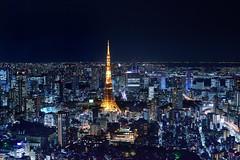 Tokyo Tower 東京鐵塔 (Vincent_Ting) Tags: tokyo tokyotower tower japan 日本 東京 東京鐵塔 夜景 六本木 night nightshot 森大樓 森美術館 六本木之丘 roppongi